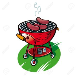 11783146-Barbecue-with-sausages-on-the-lawn-party-food-Stock-Vector-grill